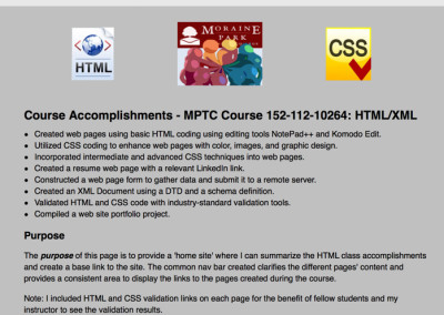 HTML and XML Examples