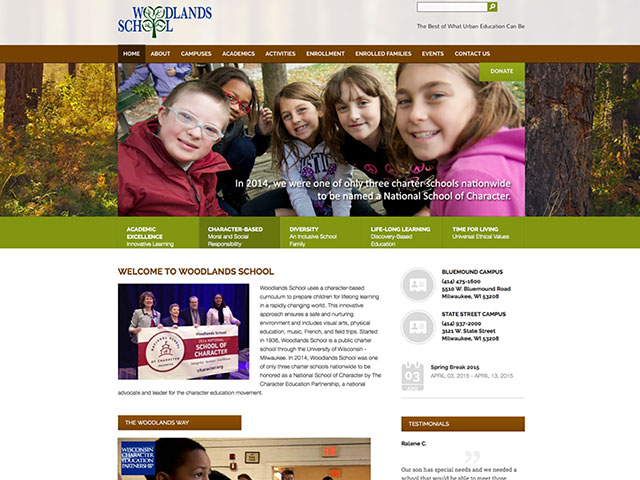 Woodlands School Website